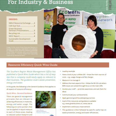 SRWMO Resource Efficiency Newsletter Spring 2018